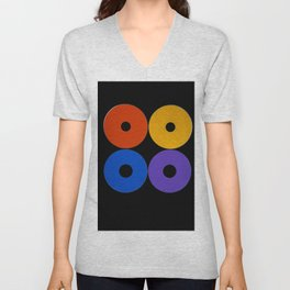Colorful CDs Unisex V-Neck