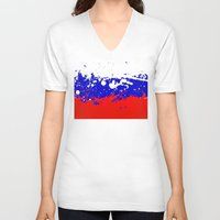 russia V-neck T-shirts featuring into the sky, Russia by seb mcnulty