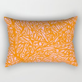 Summer Orange Saffron - Abstract Botanical Nature Rectangular Pillow