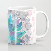 succulent Mugs featuring succulent by Asja Boros
