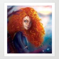 merida Art Prints featuring Merida by ChrySsV