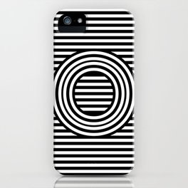 Track - Letter O - Black and White iPhone Case