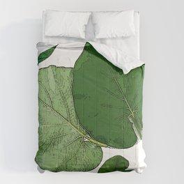 Vintage Green Leaves Comforters