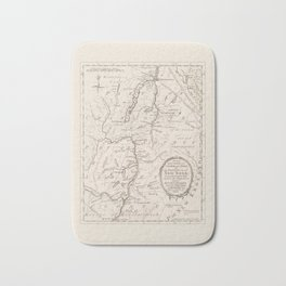 Vintage British Map of Lake George Area Bath Mat