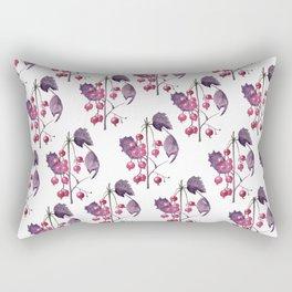 Watercolor Berries in Magenta Rectangular Pillow