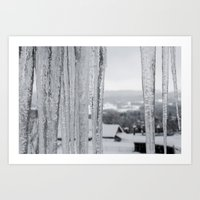 Snow Landscape Through Ice Art Print