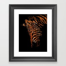 Zebra Mood Framed Art Print