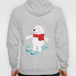 Lets Go Skiing with Mr Polar Bear this Merry Christmas Hoody