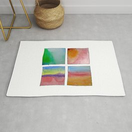 Four Abstract Landscape Studies of Colours Rug