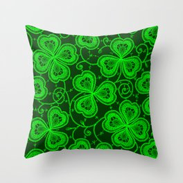 Clover Lace Pattern Throw Pillow