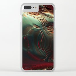 Fossilized Remains Clear iPhone Case