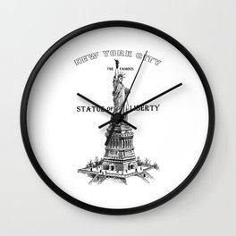 Statue of Liberty Vintage Print, Statue of Liberty Shirt, civil rights shirt,graphic tees, Wall Clock