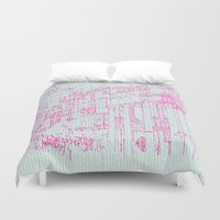radiohead Duvet Covers featuring Down with the fishes by anipani