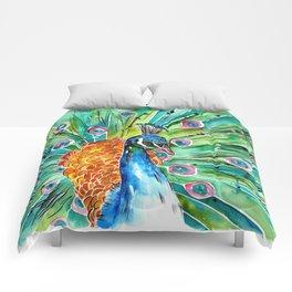Vibrant Peacock Comforters