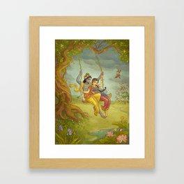 Jhulan Yatra Framed Art Print