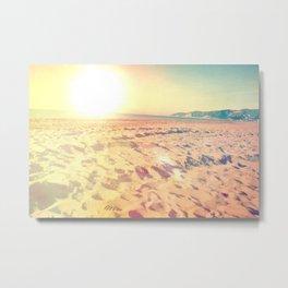 Sunny color gradient beach pastel sun sand Metal Print