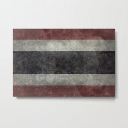 The National flag of Thailand, (formerly known as Siam) Vintage Desaturated version. Metal Print
