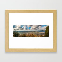 View from Montepulciano Framed Art Print