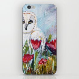 Owl in Poppies iPhone Skin