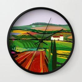 Farm Fields No. 8 Wall Clock