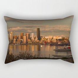 Seattle Cityscape Rectangular Pillow