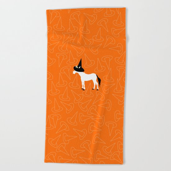 Witch Hat Unicorn Beach Towel