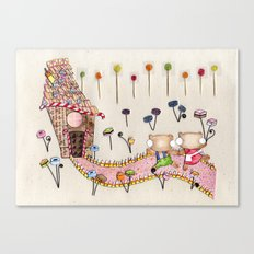 Hansel & Gretel - A House Made of Bread and Cake Canvas Print