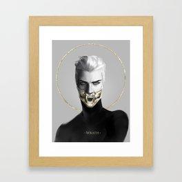 7 sins: Wrath Framed Art Print
