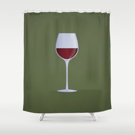 Red Wine Shower Curtain