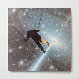 For Stephen Hawking - Reach For The Stars Metal Print