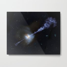 Active Black Hole Squashes Star Formation Metal Print