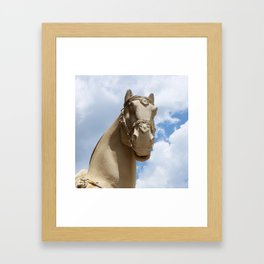Stone Horse Head 1 Framed Art Print