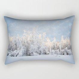 Snowy Tree Horizion Rectangular Pillow