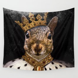 Lord Peanut (King of the Squirrels!) Wall Tapestry