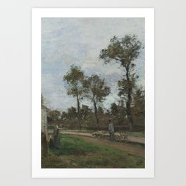 Camille Pissarro 1830 - 1903 ROAD LOUVECIENNES Art Print