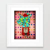 gumball Framed Art Prints featuring Gumball Unicorns by That's So Unicorny