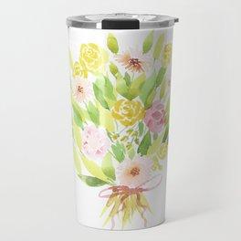 Roses and Gerberas Travel Mug