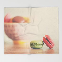 a macaron still life ... Throw Blanket