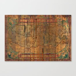Distressed Old Map Canvas Print
