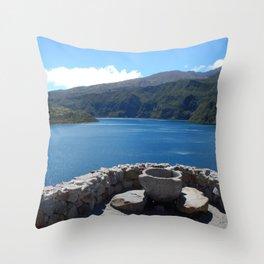 Cuicocha Lake Throw Pillow