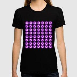 Evil Eye Amulet Talisman in Purple on White T-shirt