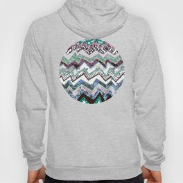 Cool Blues Zigzags Abstract Hoody