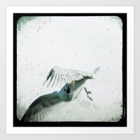 wings Art Prints featuring Wings by Bella Blue Photography
