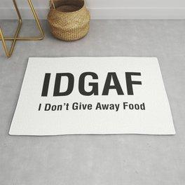 IDGAF (I Don't Give Away Food) Rug