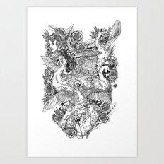 The Six Swans Art Print