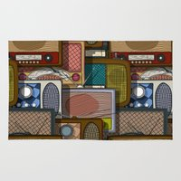 radio Area & Throw Rugs featuring Radio pattern by Rceeh