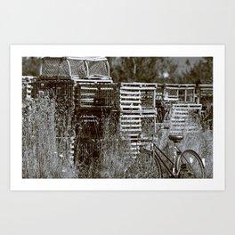 Biking to Work Art Print