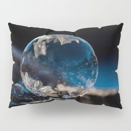 Blue Reflections Bubble Pillow Sham