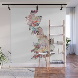 Great Britain map Wall Mural