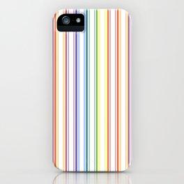 Split Rainbow Mattress Ticking Wide Stripes Pattern iPhone Case